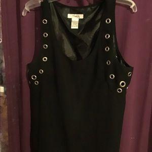 NWOT black sleeveless blouse